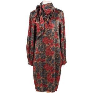 Vintage James Galanos Floral Silk Blend Dress